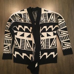 Black and White Forever 21 Cardigan